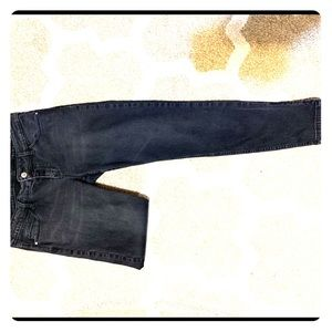 GUESS black women's skinny jeans with zip details